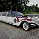 Лимузин Excalibur Phantom (бело-бордовый)