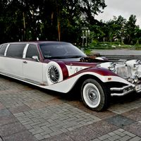 Лимузин Excalibur Phantom (бело-бордовый)