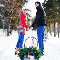 Ноябрьским холодным днем мы оформляли яркую фотозону для съемок лавстори Насти и Миши.