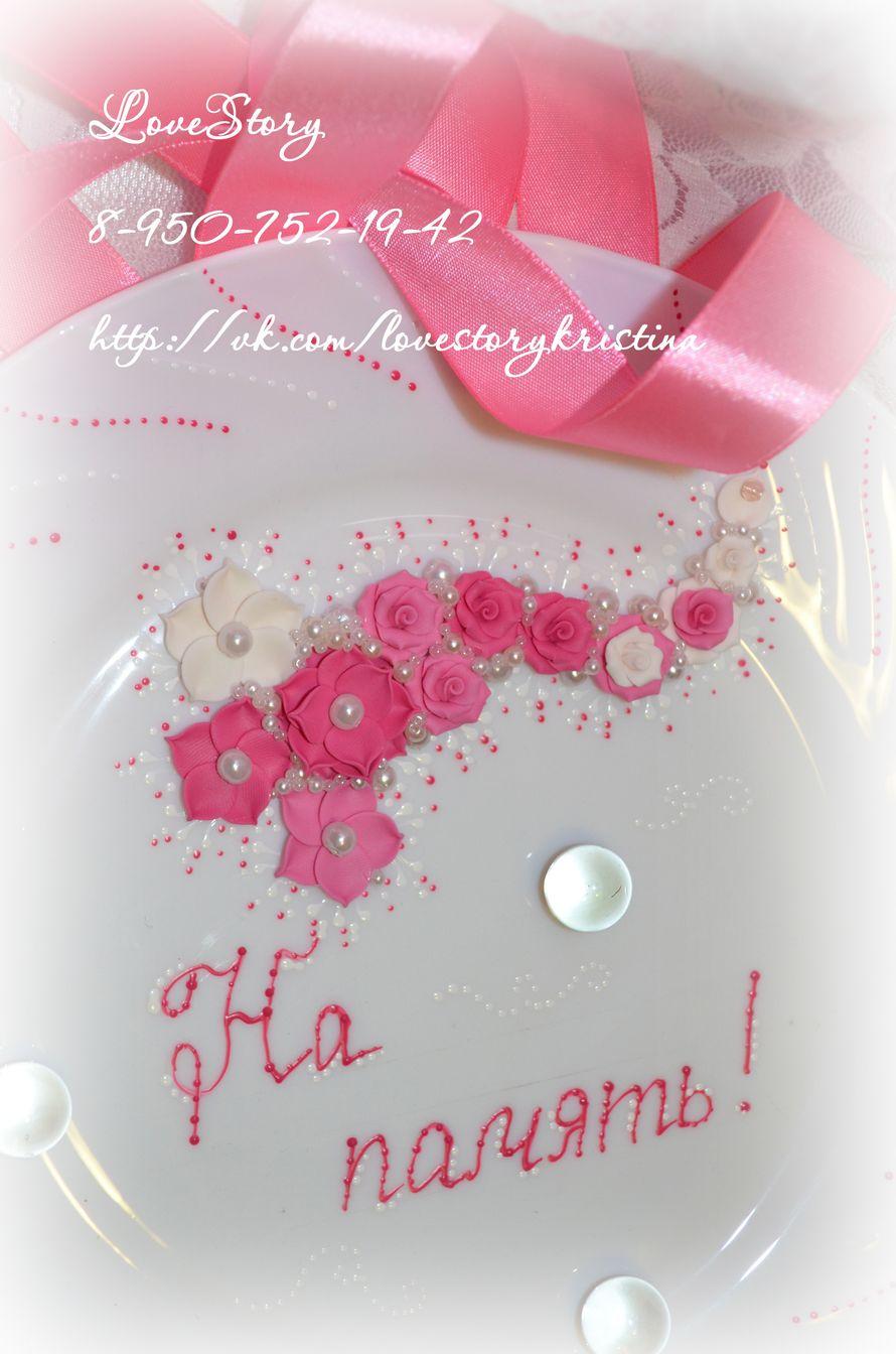 """Тарелочка для битья из коллекции """"Аромат"""" в розовом цвете - фото 4422791 Студия аксессуаров Кристины Тишковой"""