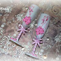 """Бокалы из набора """"Пленительная орхидея"""" в розовом цвете"""