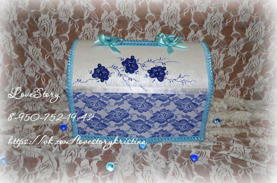 """Свадебная казна из набора """"Пленительная орхидея"""" в синем цвете - фото 4423381 Студия аксессуаров Кристины Тишковой"""