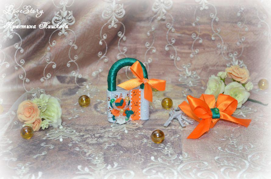 """Замочек из коллекции """"Мандариновый коктейль"""" - фото 4423943 Студия аксессуаров Кристины Тишковой"""
