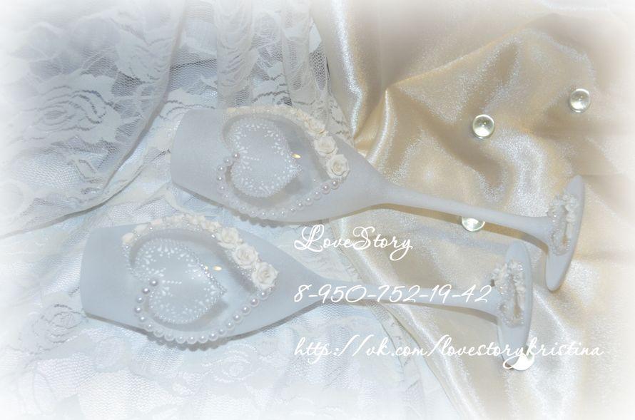 """Свадебные бокалы """"Совершенство"""" - фото 4424031 Студия аксессуаров Кристины Тишковой"""