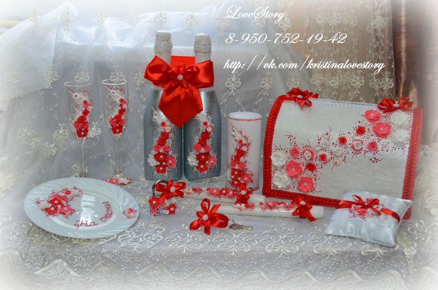 """Свадебные аксессуары """"Аромат"""" в красном цвете - фото 4425693 Студия аксессуаров Кристины Тишковой"""