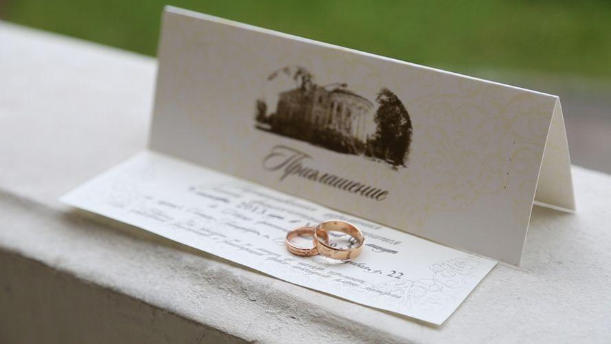 Свадебное приглашение написанное на открытке с оригинальным конвертом в тематике  на зеленом фоне  - фото 2656271 Видеограф Илья Зайцев
