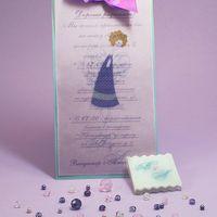 Оригинальное авторское свадебное приглашение с ангелочком.