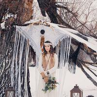Образ невесты, зимнее бохо
