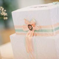 """Свадьба в стиле """"Шебби-шик"""",оформление свадьбы в мятно-персиковых тонах,Тамбов,коробочка для денег"""