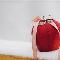 Подушечка для колец в виде яблока