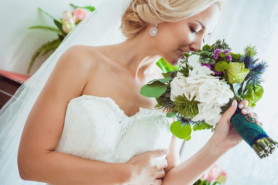 букет невесты из суккулентов - фото 3311583 DIAMANTE-deco студия свадебного дизайна
