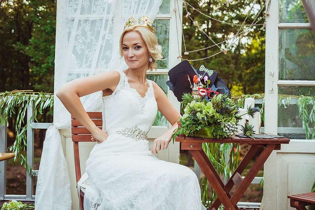 фотозона для гостей в стиле рустик - фото 3311587 DIAMANTE-deco студия свадебного дизайна