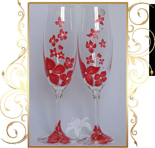 Фото 809991 в коллекции Свадебные бокалы, шампанское, подушечки для колец - Кнауб Ольга - Свадебные аксессуары