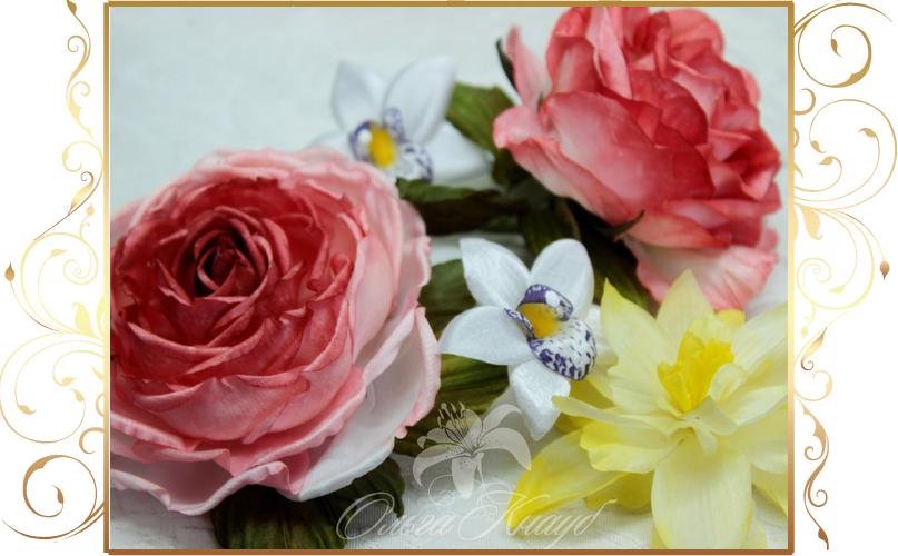 Фото 810245 в коллекции Цветы из шелка - Кнауб Ольга - Свадебные аксессуары