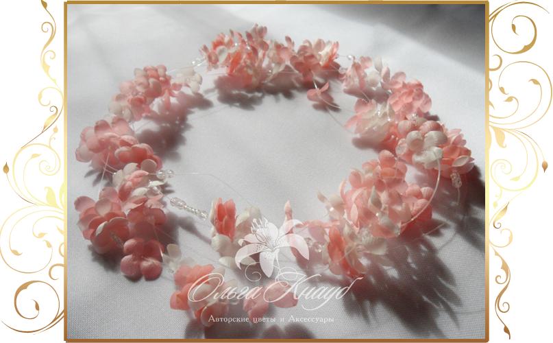 Фото 810271 в коллекции Цветы из шелка - Кнауб Ольга - Свадебные аксессуары
