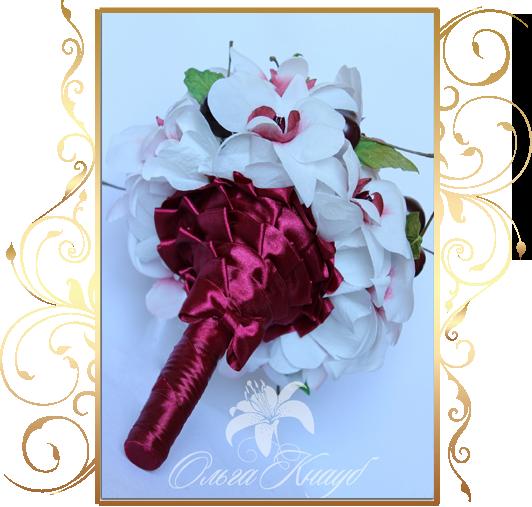 Фото 810343 в коллекции Цветы из шелка - Кнауб Ольга - Свадебные аксессуары