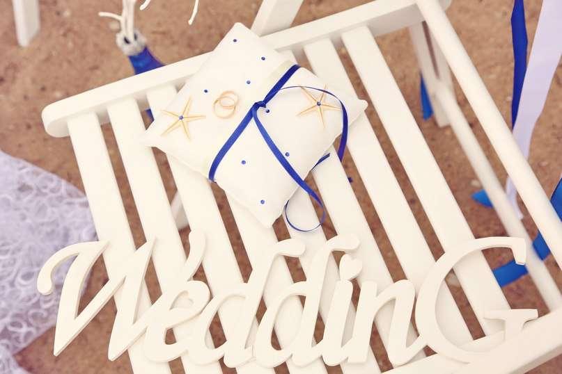 Подушечка для колец с морскими звёздами - фото 2308630 Студия свадебного декора lnsieme