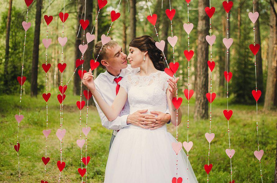 Гирлянда сердечки для свадьбы своими руками 861