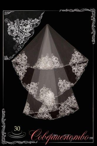 """Фата невесты, размеры: от 140*160 до 300*300 - фото 1789485 Интернет-магазин свадебной моды """"Совершенство"""""""