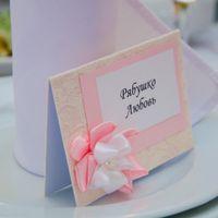 Таблички на стол для каждого гостя. Чтобы никто не потерялся ))))))).