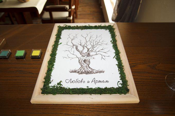 дерево для отпечатков гостей