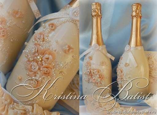 бутылка шампанского на свадьбу декупаж своими руками