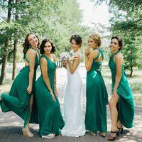 Подружки невесты в цвете Изумрудный свадьба в г.Челябинск