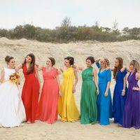 Подружки невесты в цветах: Красный, коралловый, желтый, изумрудный, голубой, синий, фиолетовый