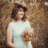 Осенний образ с использованием природных аксессуаров