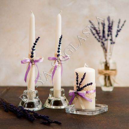 """Свадебные свечи """"Лаванда"""""""