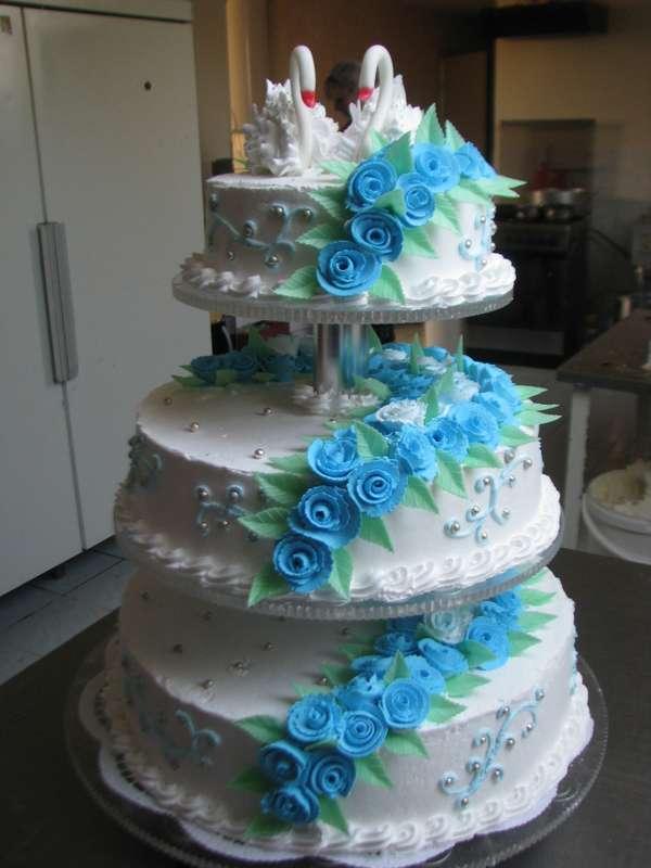 """Торт """"Голубые розы"""" - фото 1890775 Кондитерская фабрика """"Услада"""""""