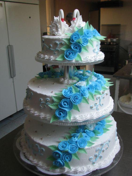 Свадебный торт белый из крема фото