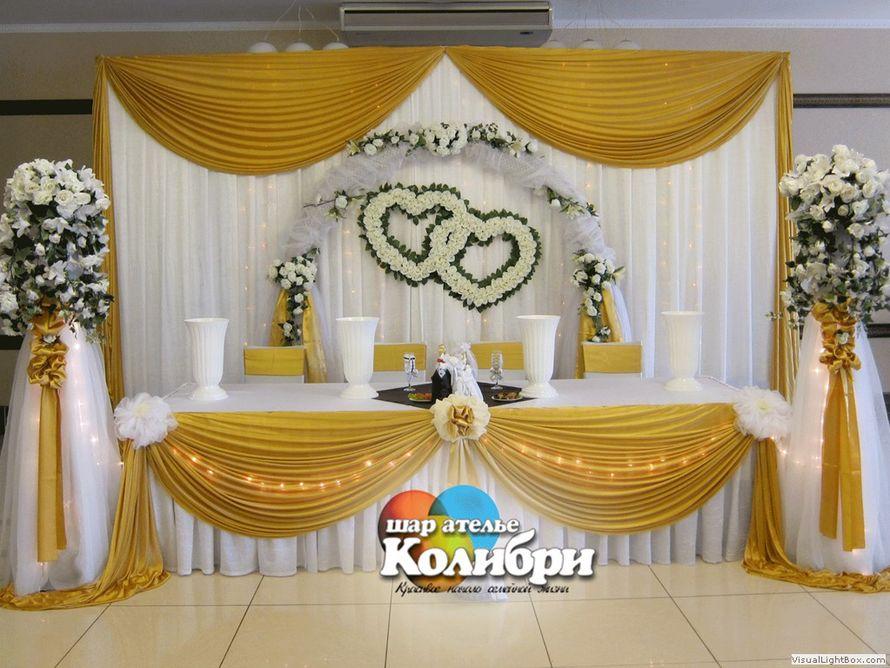 Свадьба в бело-золотом цвете фото