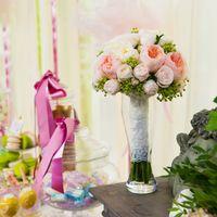 Свадебный букет из пионовидной розы для свадьбы в стиле Шебби шик