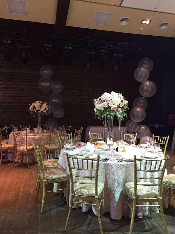 """Оформление зала на свадьбу. Цветовая гама белый, нежно розовый, золото, бежевый. Аренда скатертей. Мастерская декора и флористики """"Mi Amor"""" - фото 11438348 Мастерская декора и флористики """"Mi Amor"""""""