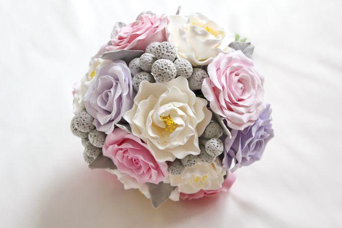 Цветы в стиле шебби шик из полимерной глины
