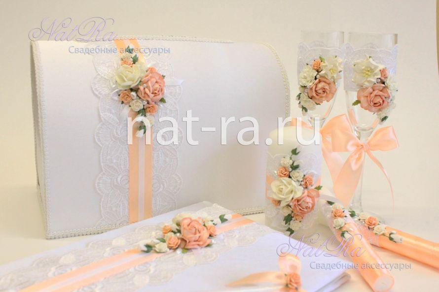 Свадебные аксессуары своими руками в персиковом цвете 82