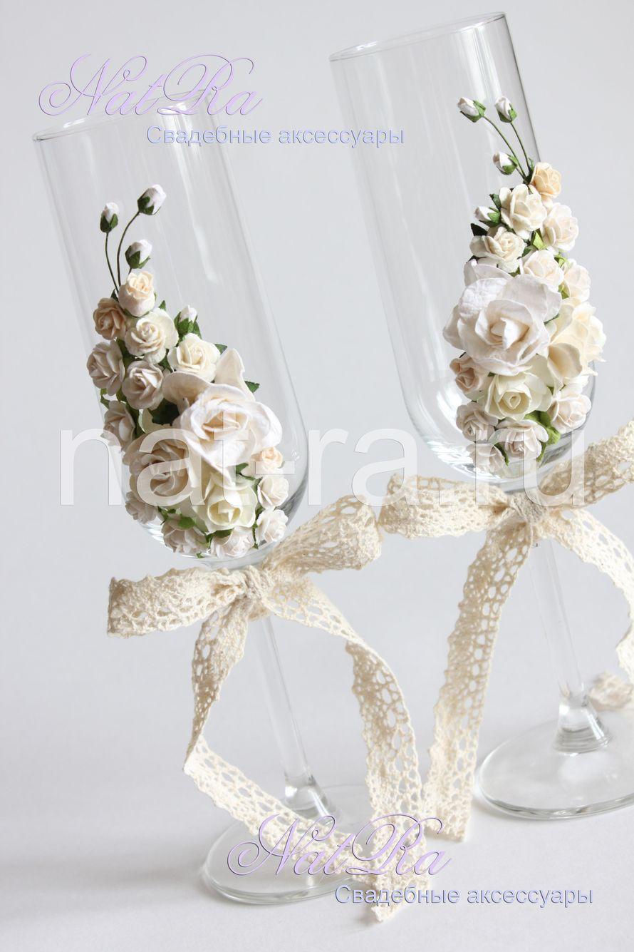 """Фото 3311101 в коллекции Свадебные бокалы - Студия свадебных аксессуаров """"NatRa"""""""