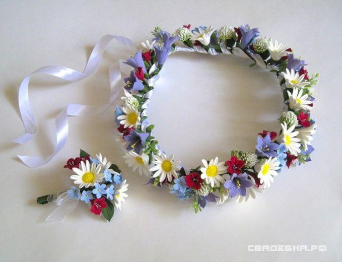 Как сделать венок из цветов на голову на