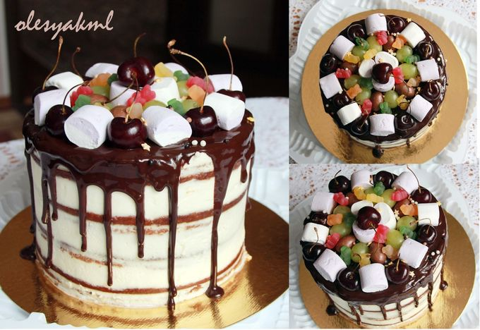как красиво украсить торт мармеллоу фото