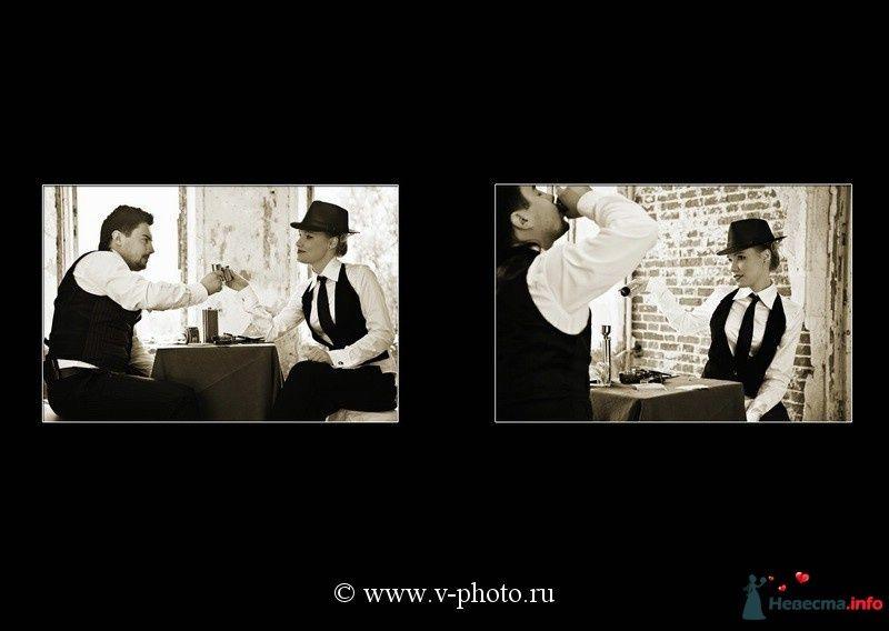 """Фото 94532 в коллекции Тематическая фотосъёмка-лавстори """"Гангстеры"""", развороты фотокниги - Свадебные фотографы StoryOfMoments"""
