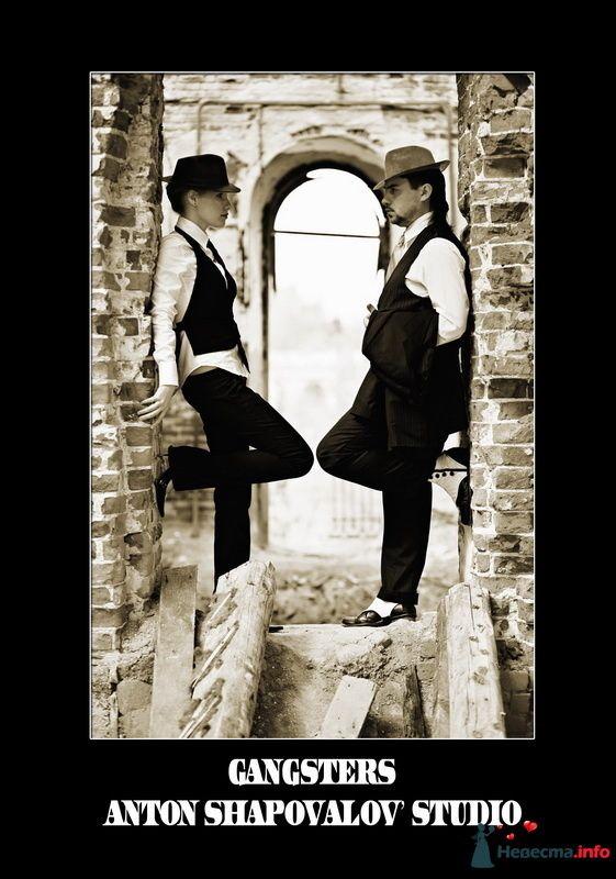 """Фото 94550 в коллекции Тематическая фотосъёмка-лавстори """"Гангстеры"""", развороты фотокниги"""