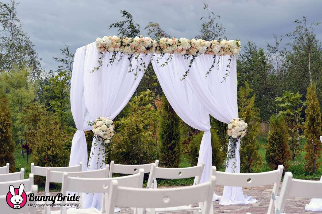 Четырехугольная свадебная арка своими руками 41