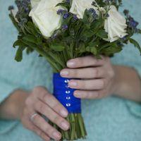 букет невесты для сине-белой свадьбы