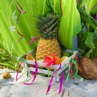 ананас на свадьбу, фрукты на свадьбу в доминикане