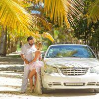 кабриолет, доминикана машина на свадьбу трасфер пальмы экзотика