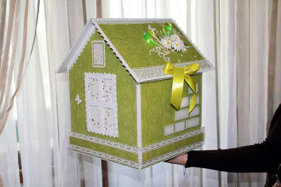 Свадебный домик для денег схема с фото