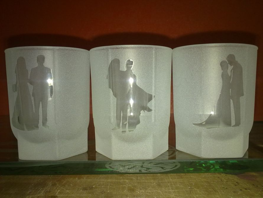Свадебные рюмки (рисунок может быть любым) - фото 3972071 Декор-Фэнтези - аксессуары, сувениры