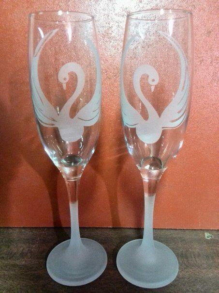 """Свадебные бокалы """"Лебеди"""" - фото 3972427 Декор-Фэнтези - аксессуары, сувениры"""