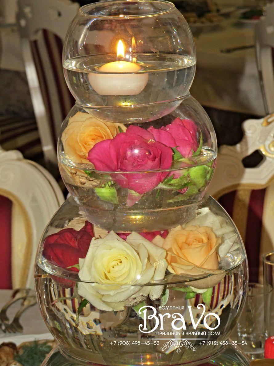 """Центральная композиция на столах гостей. - фото 9161466 """"Bravo"""" - студия декора"""
